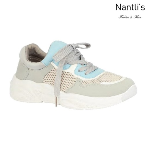 BL-Tonya-19 Grey Zapatos tennis de Mujer Mayoreo Wholesale Women sneakers Shoes Nantlis