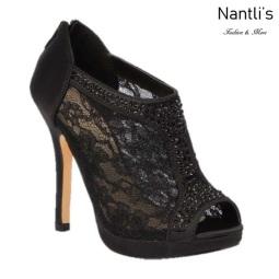 BL-Yael-9 Black Zapatos de Mujer elegantes Tacon medio Mayoreo Wholesale Womens Mid-Heels Fancy Shoes Nantlis