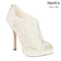 BL-Yael-9 Ivory Zapatos de Mujer elegantes Tacon medio Mayoreo Wholesale Womens Mid-Heels Fancy Shoes Nantlis