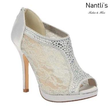 BL-Yael-9 Silver Zapatos de Mujer elegantes Tacon medio Mayoreo Wholesale Womens Mid-Heels Fancy Shoes Nantlis