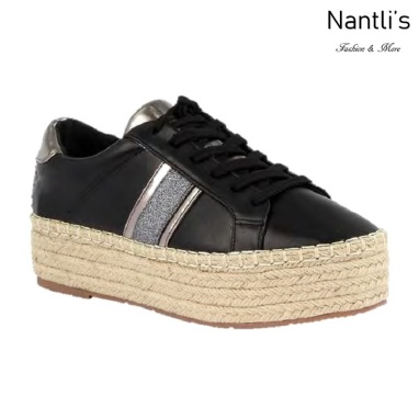 BL-Yolanda-11 Black Zapatos tennis de Mujer Mayoreo Wholesale Women sneakers Shoes Nantlis