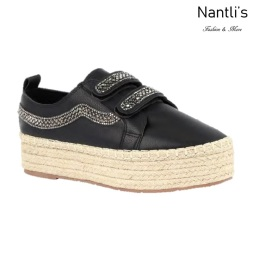 BL-Yolanda-12 Black Zapatos tennis de Mujer Mayoreo Wholesale Women sneakers Shoes Nantlis
