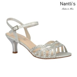 BL-Berk-212 Silver Zapatos de Mujer elegantes Tacon bajo Mayoreo Wholesale Womens Low-Heels Fancy Shoes Nantlis