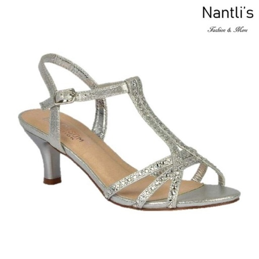 BL-Berk-213 Silver Zapatos de Mujer elegantes Tacon bajo Mayoreo Wholesale Womens Low-Heels Fancy Shoes Nantlis