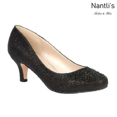 BL-Bertha-3 Black Zapatos de Mujer elegantes Tacon bajo Mayoreo Wholesale Womens Low-Heels Fancy Shoes Nantlis