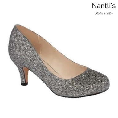 BL-Bertha-3 Pewter Zapatos de Mujer elegantes Tacon bajo Mayoreo Wholesale Womens Low-Heels Fancy Shoes Nantlis