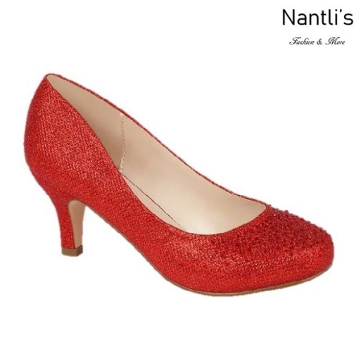 BL-Bertha-3 Red Zapatos de Mujer elegantes Tacon bajo Mayoreo Wholesale Womens Low-Heels Fancy Shoes Nantlis