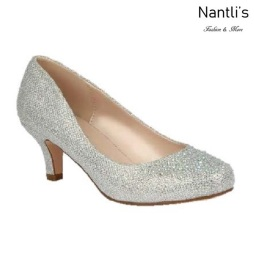 BL-Bertha-3 Silver Zapatos de Mujer elegantes Tacon bajo Mayoreo Wholesale Womens Low-Heels Fancy Shoes Nantlis