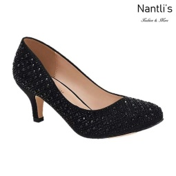 BL-Bertha-9 Black Zapatos de Mujer elegantes Tacon bajo Mayoreo Wholesale Womens Low-Heels Fancy Shoes Nantlis