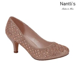 BL-Bertha-9 Red-Rose Gold Zapatos de Mujer elegantes Tacon bajo Mayoreo Wholesale Womens Low-Heels Fancy Shoes Nantlis