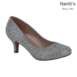 BL-Bertha-9 Silver Zapatos de Mujer elegantes Tacon bajo Mayoreo Wholesale Womens Low-Heels Fancy Shoes Nantlis