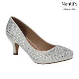 BL-Bertha-9B White Zapatos de Mujer elegantes Tacon bajo Mayoreo Wholesale Womens Low-Heels Fancy Shoes Nantlis
