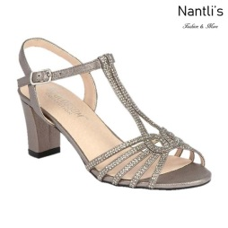 BL-Carla-25 Pewter Zapatos de Mujer elegantes Tacon bajo Mayoreo Wholesale Womens Low-Heels Fancy Shoes Nantlis