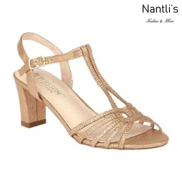BL-Carla-25 Rose Gold Zapatos de Mujer elegantes Tacon bajo Mayoreo Wholesale Womens Low-Heels Fancy Shoes Nantlis