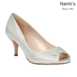 BL-Hurley-19 Silver Zapatos de Mujer elegantes Tacon bajo Mayoreo Wholesale Womens Low-Heels Fancy Shoes Nantlis
