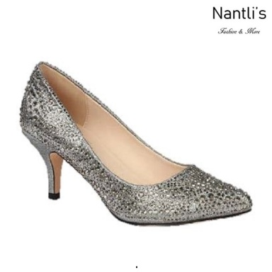 BL-Hurley-26 Pewter Zapatos de Mujer elegantes Tacon bajo Mayoreo Wholesale Womens Low-Heels Fancy Shoes Nantlis