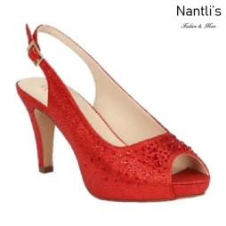 BL-Kenny-21 Red Zapatos de Mujer elegantes Tacon bajo Mayoreo Wholesale Womens Low-Heels Fancy Shoes Nantlis