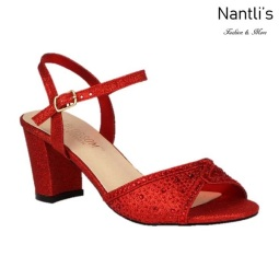BL-Lennie-22 Red Zapatos de Mujer elegantes Tacon bajo Mayoreo Wholesale Womens Low-Heels Fancy Shoes Nantlis