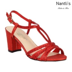 BL-Lennie-23 Red Zapatos de Mujer elegantes Tacon bajo Mayoreo Wholesale Womens Low-Heels Fancy Shoes Nantlis