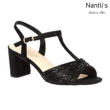 BL-Martina-12 Black Zapatos de Mujer elegantes Tacon bajo Mayoreo Wholesale Womens Low-Heels Fancy Shoes Nantlis