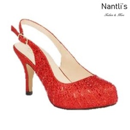BL-Roma-14X Red Zapatos de Mujer elegantes Tacon bajo Mayoreo Wholesale Womens Low-Heels Fancy Shoes Nantlis