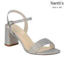 BL-Sofia-53 Silver Zapatos de Mujer elegantes Tacon bajo Mayoreo Wholesale Womens Low-Heels Fancy Shoes Nantlis