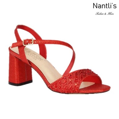 BL-Sofia-60 Red Zapatos de Mujer elegantes Tacon bajo Mayoreo Wholesale Womens Low-Heels Fancy Shoes Nantlis
