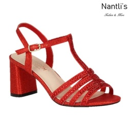 BL-Sofia-68 Red Zapatos de Mujer elegantes Tacon bajo Mayoreo Wholesale Womens Low-Heels Fancy Shoes Nantlis