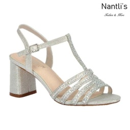 BL-Sofia-68 Silver Zapatos de Mujer elegantes Tacon bajo Mayoreo Wholesale Womens Low-Heels Fancy Shoes Nantlis