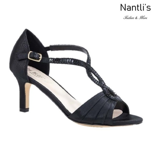 BL-Valerie-10 Black Zapatos de Mujer elegantes Tacon bajo Mayoreo Wholesale Womens Low-Heels Fancy Shoes Nantlis