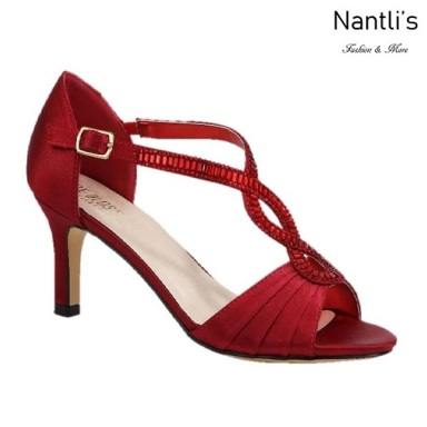 BL-Valerie-10 Red Zapatos de Mujer elegantes Tacon bajo Mayoreo Wholesale Womens Low-Heels Fancy Shoes Nantlis