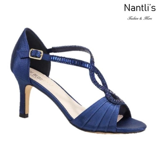 BL-Valerie-10 Royal Blue Zapatos de Mujer elegantes Tacon bajo Mayoreo Wholesale Womens Low-Heels Fancy Shoes Nantlis