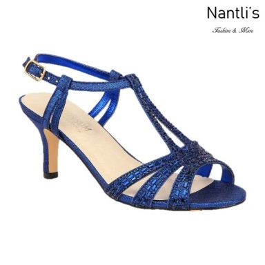 BL-Vero-76 Royal Blue Zapatos de Mujer elegantes Tacon bajo Mayoreo Wholesale Womens Low-Heels Fancy Shoes Nantlis