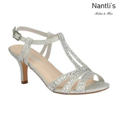 BL-Vero-76 Silver Zapatos de Mujer elegantes Tacon bajo Mayoreo Wholesale Womens Low-Heels Fancy Shoes Nantlis