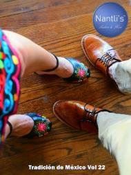 Tradicion de Mexico Vol 22 Zapatos Artesanales Huaraches Cintos Cartera Nantlis Pag 01