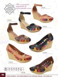 Tradicion de Mexico Vol 22 Zapatos Artesanales Huaraches Cintos Cartera Nantlis Pag 02