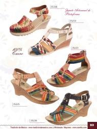 Tradicion de Mexico Vol 22 Zapatos Artesanales Huaraches Cintos Cartera Nantlis Pag 03