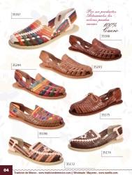 Tradicion de Mexico Vol 22 Zapatos Artesanales Huaraches Cintos Cartera Nantlis Pag 04