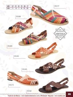 Tradicion de Mexico Vol 22 Zapatos Artesanales Huaraches Cintos Cartera Nantlis Pag 05