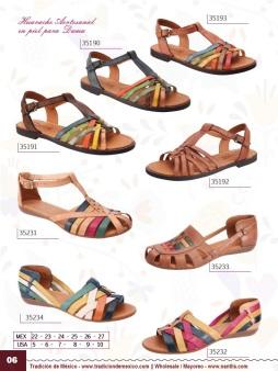Tradicion de Mexico Vol 22 Zapatos Artesanales Huaraches Cintos Cartera Nantlis Pag 06