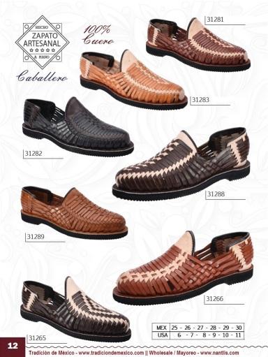 Tradicion de Mexico Vol 22 Zapatos Artesanales Huaraches Cintos Cartera Nantlis Pag 12