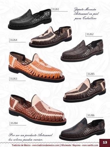 Tradicion de Mexico Vol 22 Zapatos Artesanales Huaraches Cintos Cartera Nantlis Pag 13