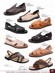 Tradicion de Mexico Vol 22 Zapatos Artesanales Huaraches Cintos Cartera Nantlis Pag 15