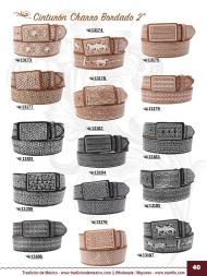 Tradicion de Mexico Vol 22 Zapatos Artesanales Huaraches Cintos Cartera Nantlis Pag 40