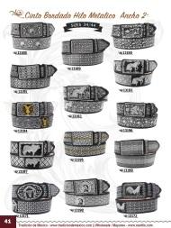 Tradicion de Mexico Vol 22 Zapatos Artesanales Huaraches Cintos Cartera Nantlis Pag 41