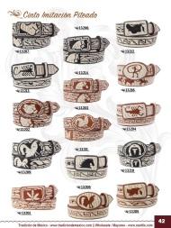 Tradicion de Mexico Vol 22 Zapatos Artesanales Huaraches Cintos Cartera Nantlis Pag 42