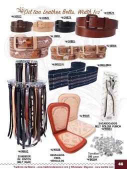 Tradicion de Mexico Vol 22 Zapatos Artesanales Huaraches Cintos Cartera Nantlis Pag 46
