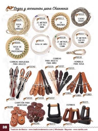 Tradicion de Mexico Vol 23 Accesorios para Charros y Caballos Nantlis page 38