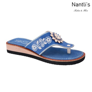 TM-35116 Blue Huaraches Mexicanos de Mujer Mayoreo Wholesale Womens Mexican Sandals Nantlis Tradicion de Mexico