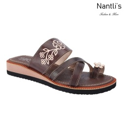 TM-35137 Brown Huaraches Mexicanos de Mujer Mayoreo Wholesale Womens Mexican Sandals Nantlis Tradicion de Mexico
